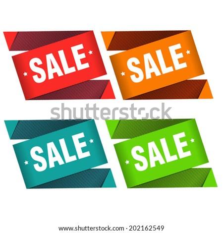 season sale labels - stock vector