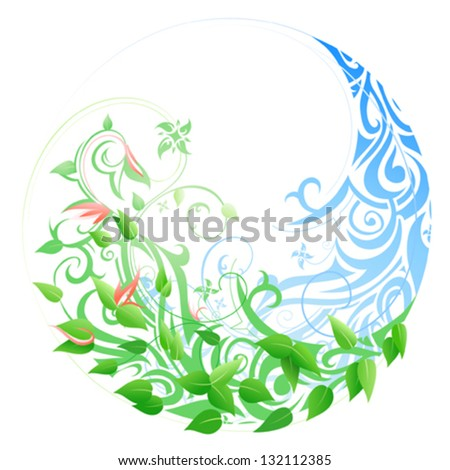Seasonal cycle from winter into spring and summer. Timeline concept - stock vector
