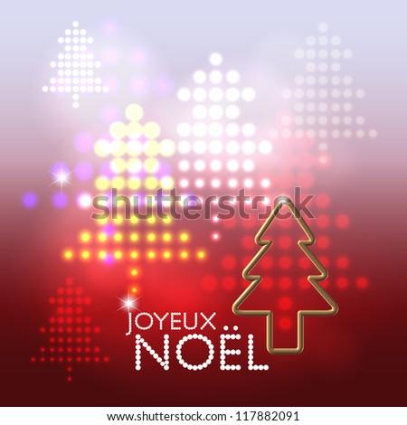 Seasonal greetings abstract stage lights christmas tree pattern background