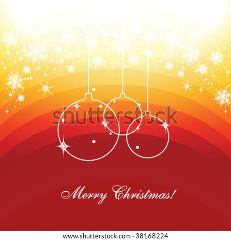 Seasonal greetings template with copy space in red colors, vector