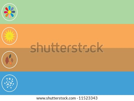 seasons - stock vector