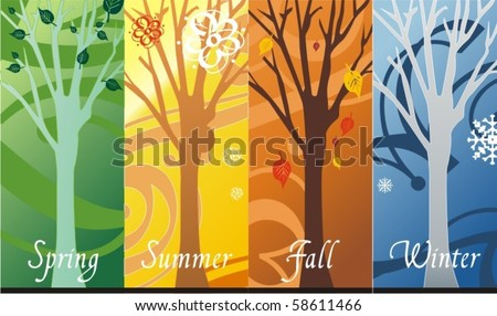 Seasons - stock vector