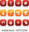 Seasons  button set. Vector illustration. - stock vector