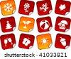 Seasons sticker set. Vector illustration. - stock vector