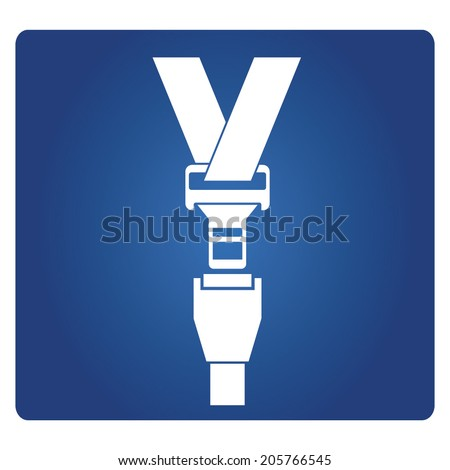 seat belt - stock vector