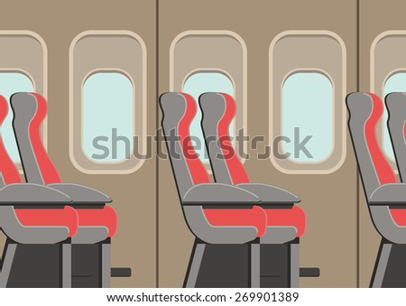 Seat on the plane - stock vector