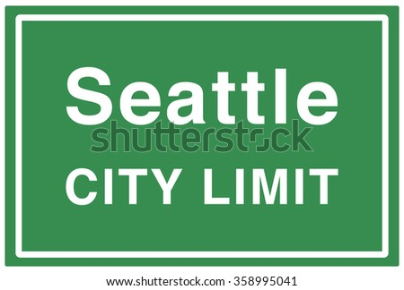 Seattle City Limit Sign