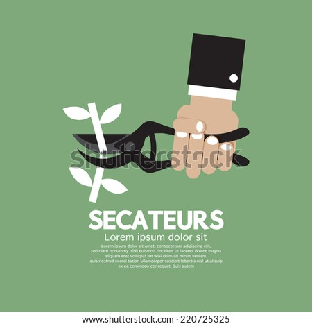 Secateurs Gardening Tool Vector Illustration - stock vector