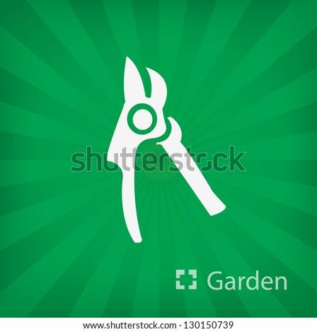 secateurs icon (Garden) - stock vector
