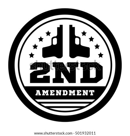 Second Amendment Us Constitution Permit Possession Stock Vector Hd