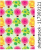 secret garden wallpaper series (rainbow mushrooms) - stock vector