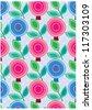 secret garden wallpaper series (winter love) - stock vector