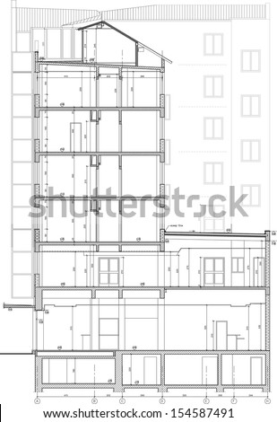 Apartment Building Drawing