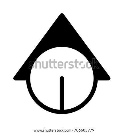 Color Scale Arrow Red Green Scale Stock Vector 514796956 ...
