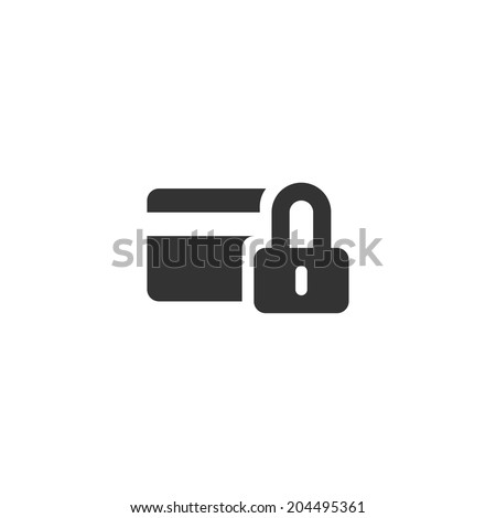 Secure credit card icon - stock vector