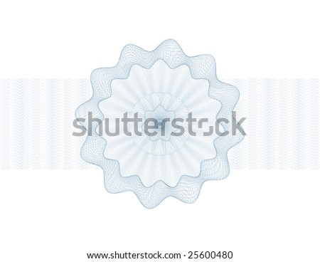 secure guilloche certificate rosett element - stock vector