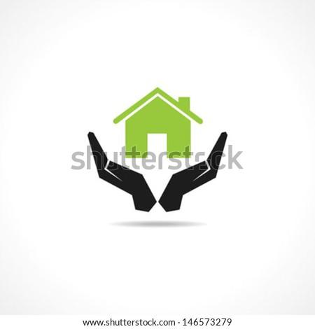 secure home concept stock vector - stock vector