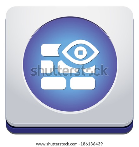 secure icon - stock vector
