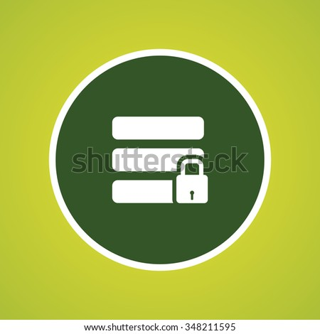 Secure or locked Data Icon - stock vector