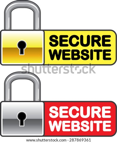 Secure Website Symbol Icon Vector - stock vector