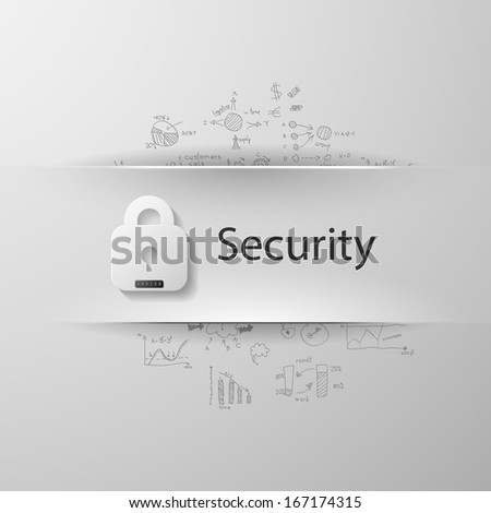 Security - stock vector