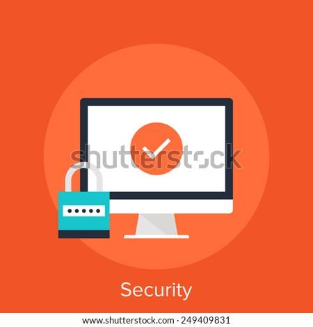 Security - stock vector