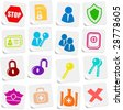 Security and antivirus vector icons - stock vector
