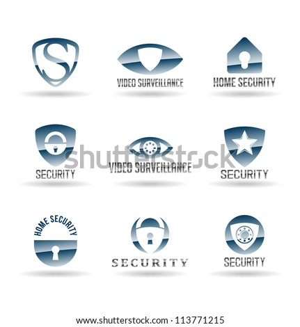 Security and Safety icons. Vol 1. - stock vector