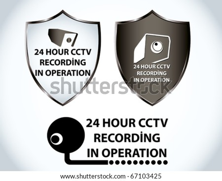 security camera - stock vector