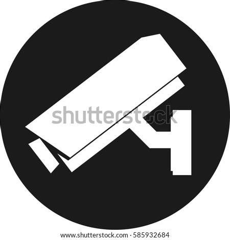 Security Camera Icon Stock Vector 585932684 Shutterstock