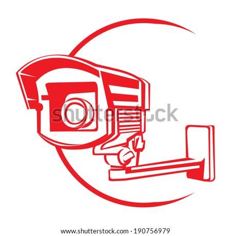 Security Camera Symbol - stock vector