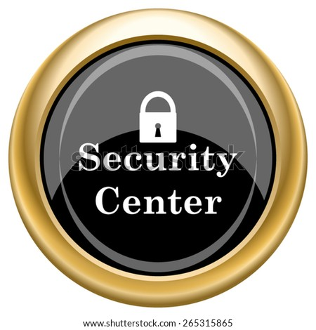 Security center icon. Internet button on white  background. EPS10 Vector.