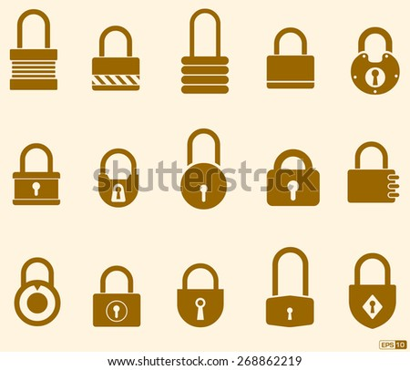 Security Concepts - Lock, Security, Safe Icon Set - stock vector