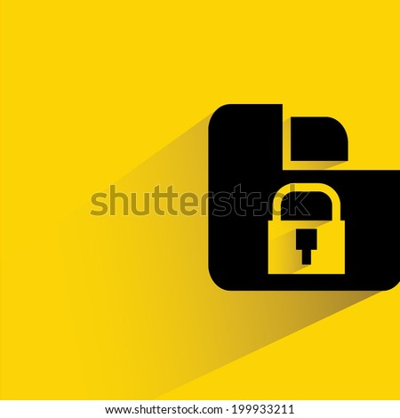 security data, data protection - stock vector