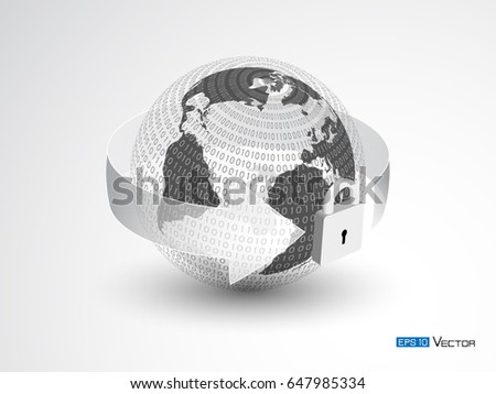 Security data design vector illustration including stock vector security data design vector illustration including sphere with world map binary code gumiabroncs Image collections