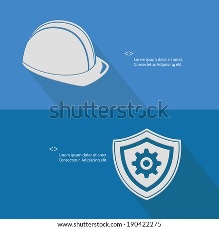 Security for engineering,Blank for text,blue version,vector - stock vector