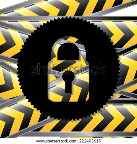 security graphic design , vector illustration