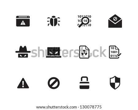 Security icons on white background. Vector illustration. - stock vector
