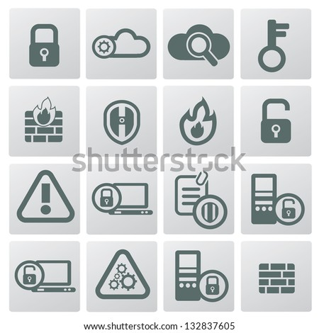 Security icons,vector - stock vector