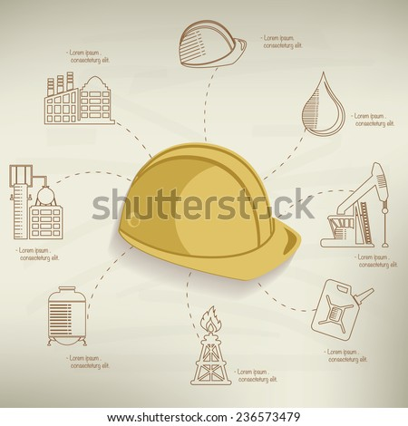 Security industry design,info graphic on old paper background,clean vector - stock vector