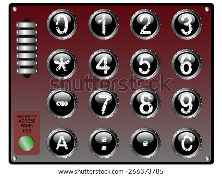 Security KeyPad - stock vector