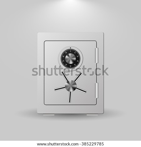 Security Metal Safe on White Background. Vector illustration - stock vector