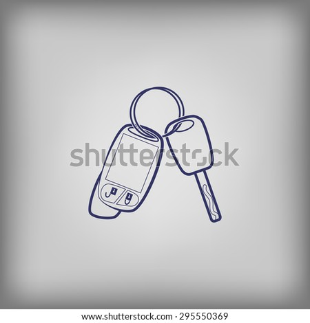 Security remote control for your car icon  - stock vector