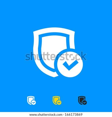 Security shield icon - stock vector