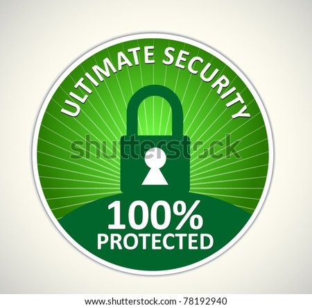 security sign - stock vector
