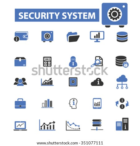 security, system administrator, computer network, connection, database, technology icons, signs vector set for infographics, mobile, website, application  - stock vector