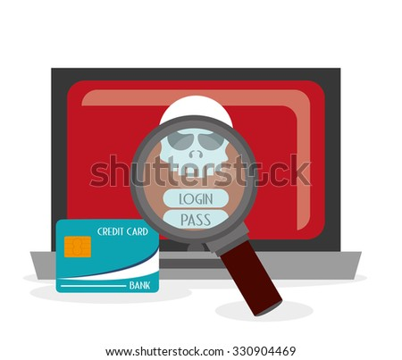 Security system concept with insurance icons design, vector illustration 10 eps graphic. - stock vector