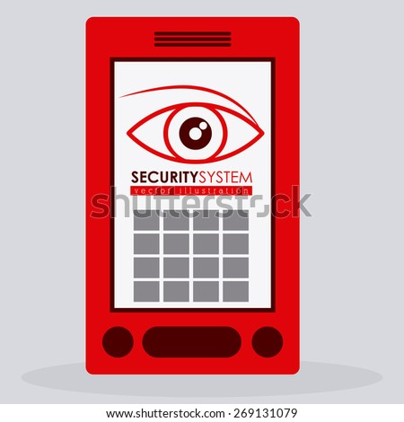 Security system design over white background, vector illustration - stock vector