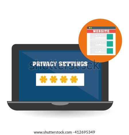 Security system design. technology illustration. protection icon