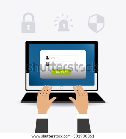 Security system design, vector illustration eps 10. - stock vector